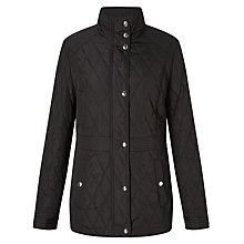 Buy Lauren Ralph Lauren Quilted Jacket With Waist Inset, Black Online at johnlewis.com