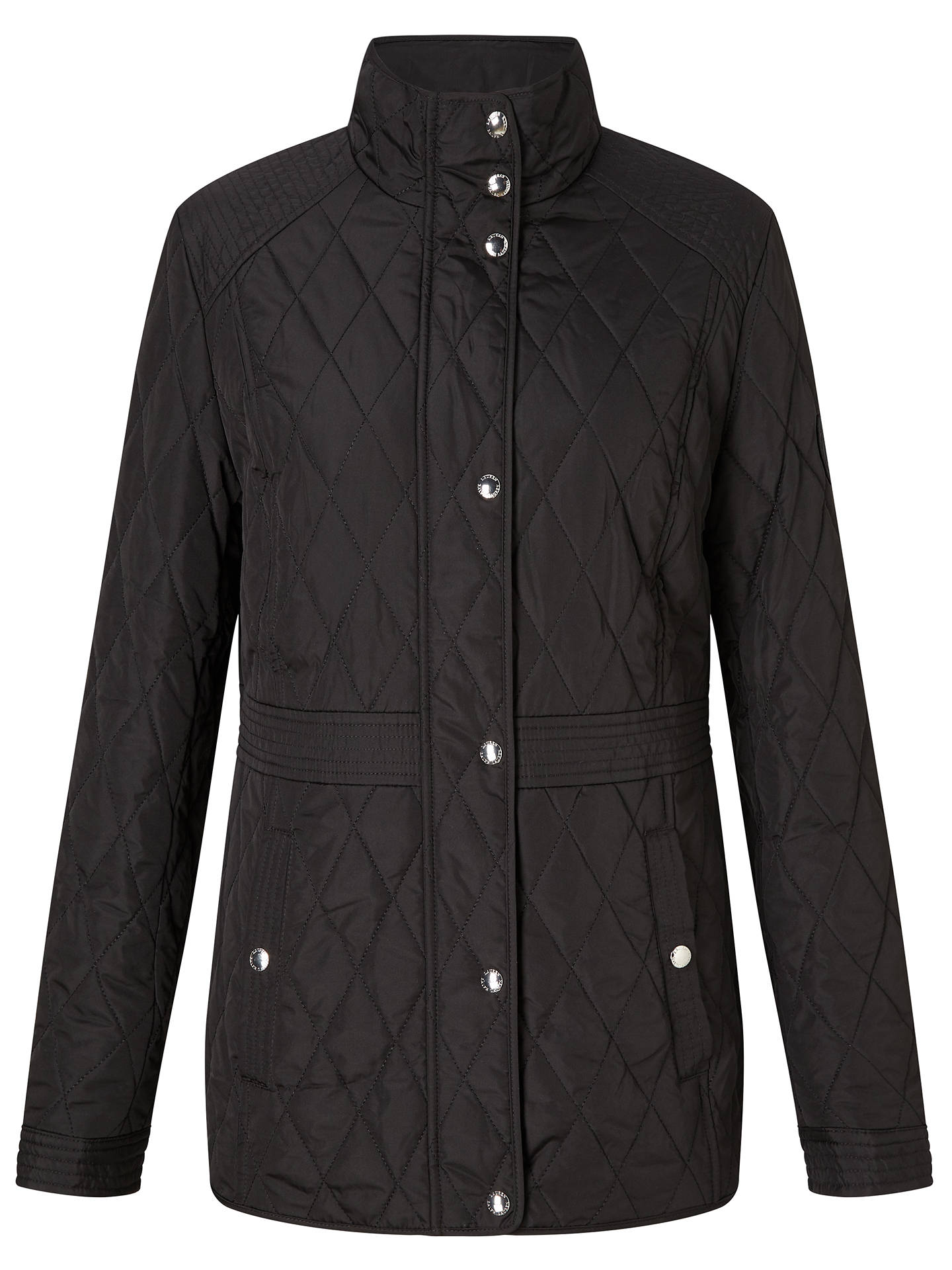 Lauren Ralph Lauren Quilted Jacket With Waist Inset Black At John