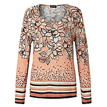 Buy Gerry Weber Printed Floral Jumper, Peach/Black Online at johnlewis.com