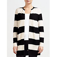 Buy Gerry Weber Striped Cardigan, Black/Peach Online at johnlewis.com