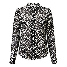 Buy Marella Zuai Printed Shirt, Black Online at johnlewis.com