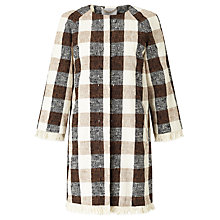 Buy Marella Palombo Check Longline Jacket, Tobacco Online at johnlewis.com