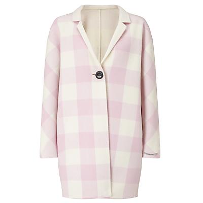 Marella Papaile Reversible Check Coat, Pink