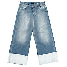 Buy 7 For All Mankind Broken Twill Denim Culottes, Light Blue Online at johnlewis.com