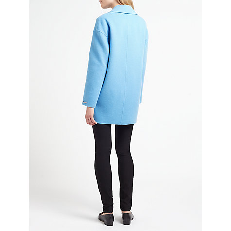 Buy Marella Marte Double Faced Cocoon Coat, Turquoise Online at johnlewis.com