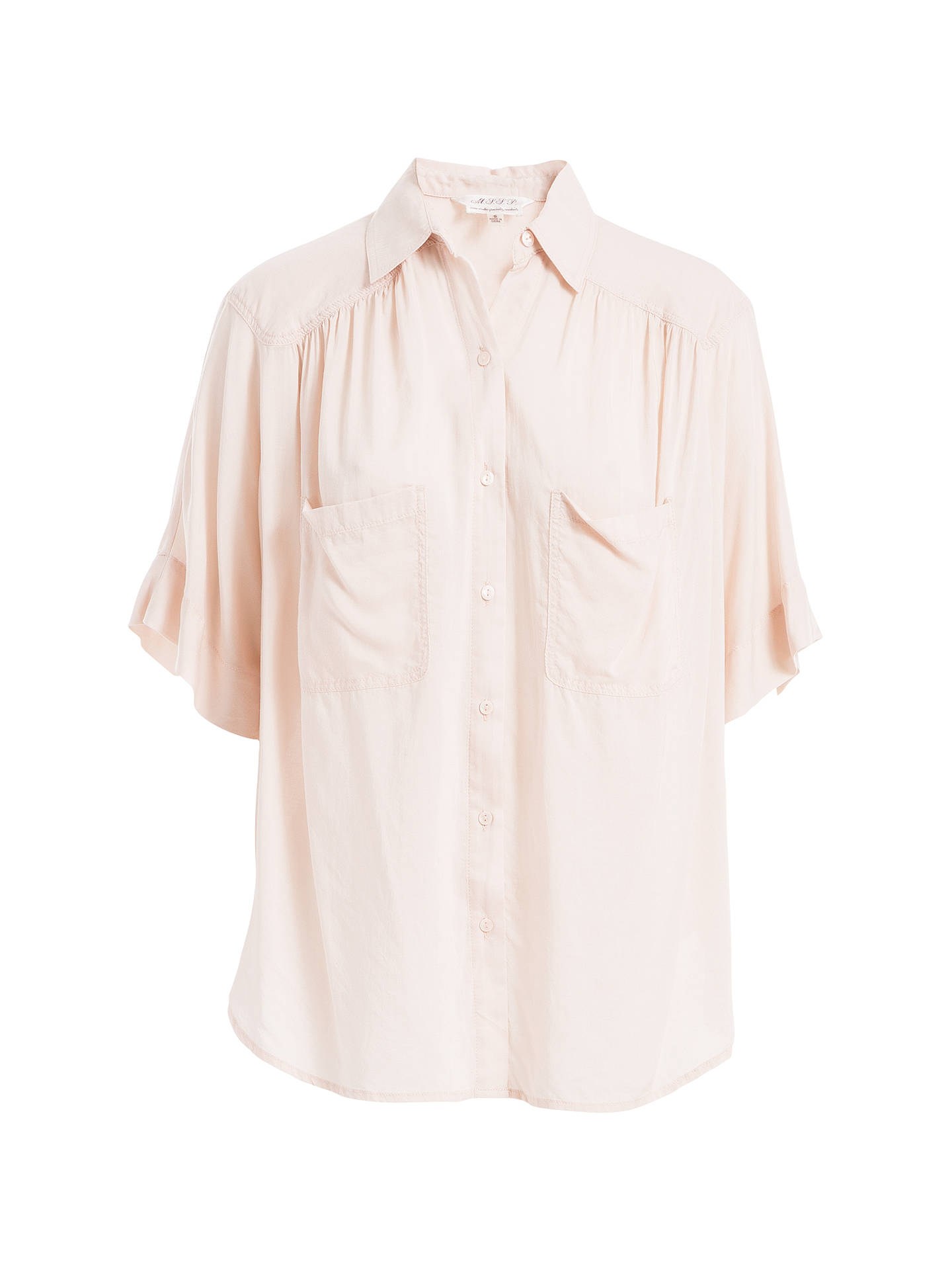 free delivery to buy best supplier Max Studio Elbow-Length Sleeve Shirt, Ballet Pink at John Lewis ...