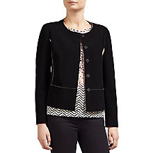 Buy Gerry Weber Bonded Jacket, Black Online at johnlewis.com