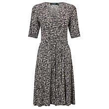 Buy Lauren Ralph Lauren Abstract Printed Jersey Dress, Colonial Cream/Black Online at johnlewis.com