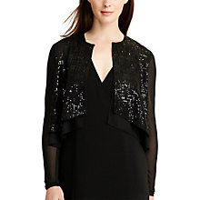 Buy Lauren Ralph Lauren Sequin Cardigan, Black Online at johnlewis.com