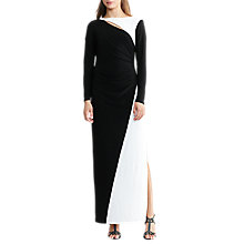 Buy Lauren Ralph Lauren Two-Tone Maxi Dress, Black/Lauren White Online at johnlewis.com