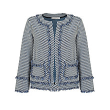 Buy Marella Macario Stripe Jacket, Navy Online at johnlewis.com