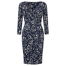 Buy Lauren Ralph Lauren Surplice Jersey Dress, Lighthouse Navy/Colonial Cream Online at johnlewis.com