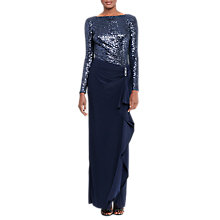 Buy Lauren Ralph Lauren Sequin Maxi Dress, Lighthouse Navy Online at johnlewis.com