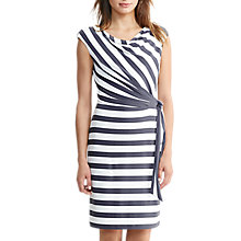 Buy Lauren Ralph Lauren Stripe Jersey Dress, Slate/Colonial Cream Online at johnlewis.com