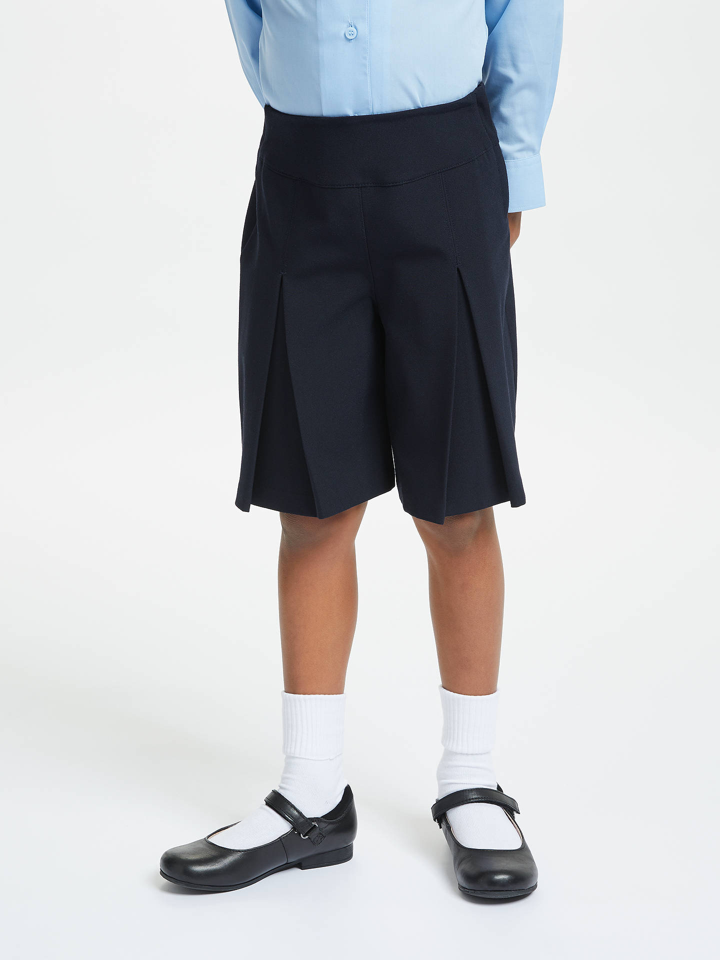 Buy John Lewis & Partners Girls' Adjustable Waist School Culottes, Navy, 4 years Online at johnlewis.com