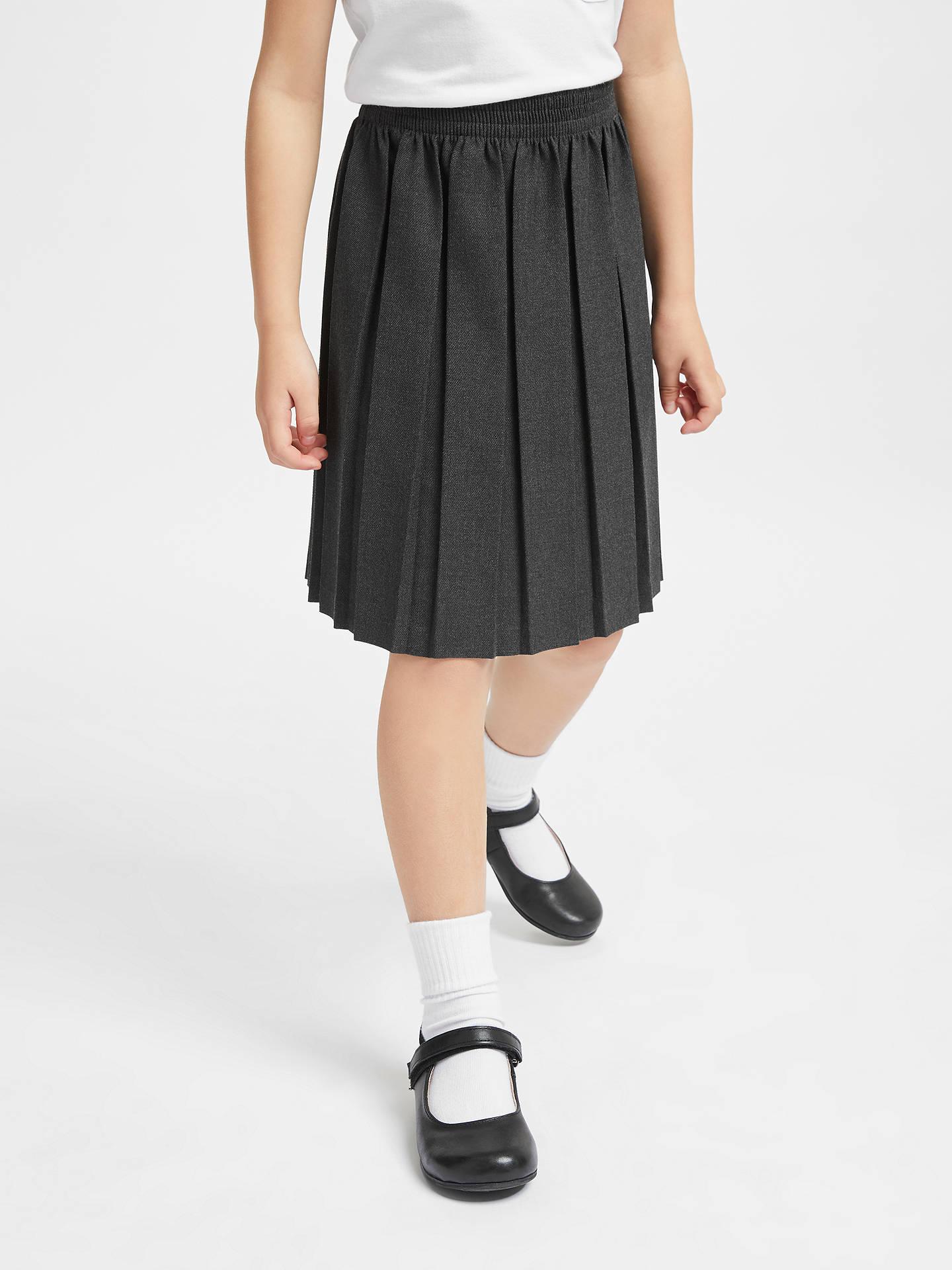 0c044c3459 Buy John Lewis & Partners Girls' Pleated School Skirt, Grey, 3 years Online  ...