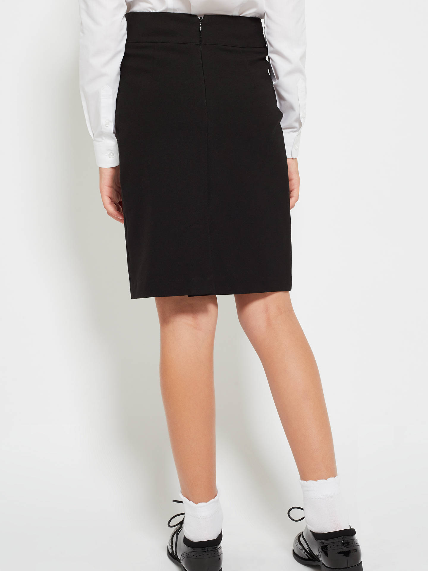 Buy John Lewis & Partners Senior Girls' School Pencil Skirt, Black, 12 years Online at johnlewis.com