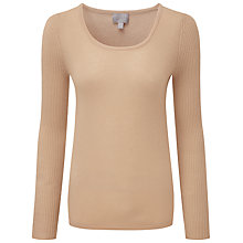 Buy Pure Collection Nyla Scoop Neck Jumper, Camel Online at johnlewis.com