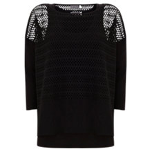 Buy Mint Velvet Layered Lace Top, Black Online at johnlewis.com