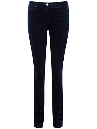 Pure Collection Athena Wash Velvet Jeans, Midnight