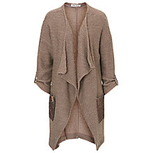 Buy Betty Barclay Embellished Waterfall Cardigan, Moon Rock Online at johnlewis.com