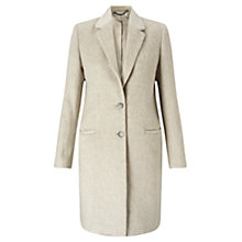 Buy Jigsaw Single Breasted City Wool Coat, Oyster Online at johnlewis.com