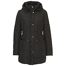 Buy Betty Barclay Detachable Hood Quilted Coat, Black Online at johnlewis.com