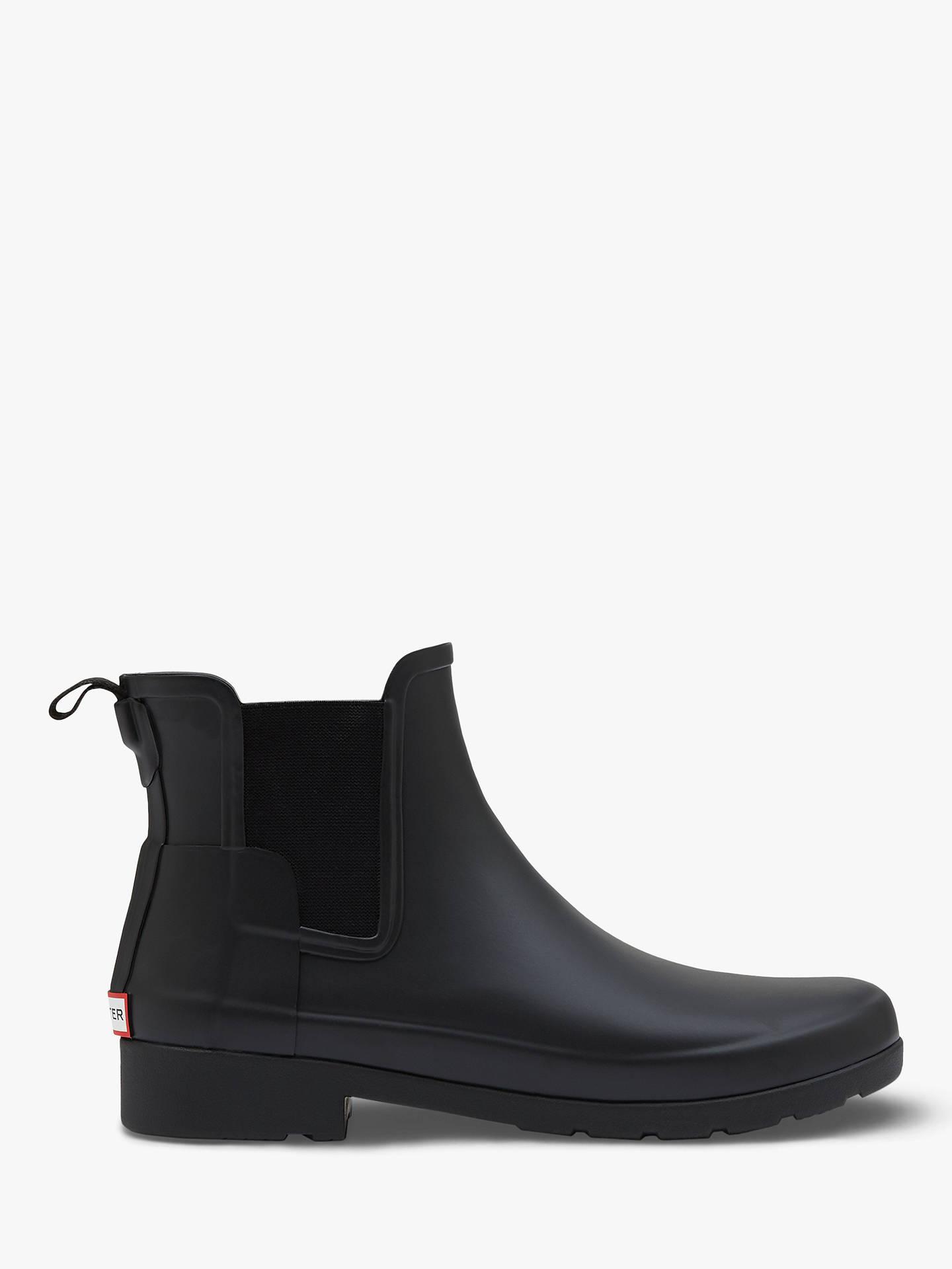 a74908bc1b6 Buy Hunter Women's Original Waterproof Refined Chelsea Wellington Boots,  Black, 4 Online at johnlewis ...