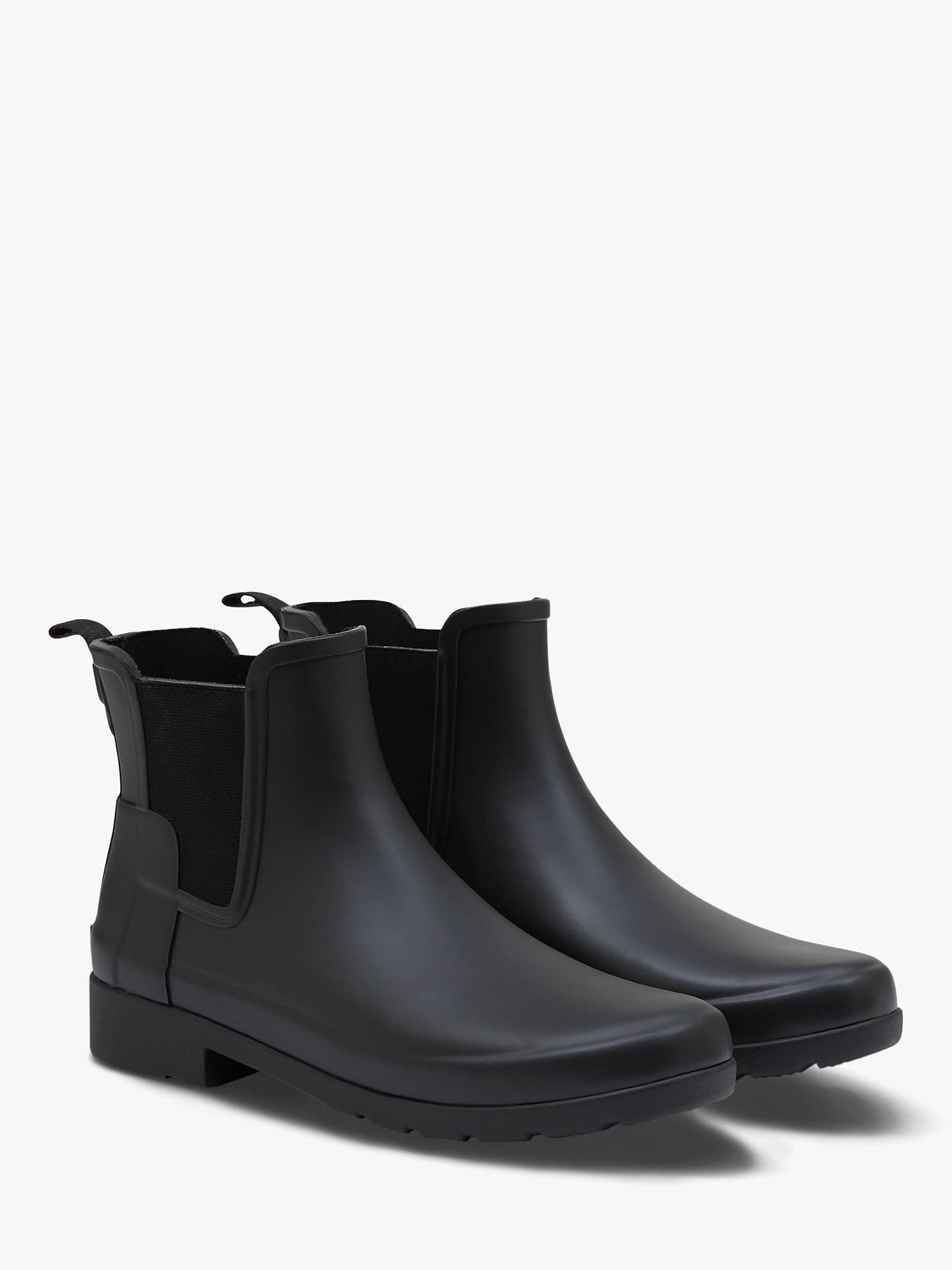 e14f1ea6242 Hunter Women's Original Waterproof Refined Chelsea Wellington Boots, Black