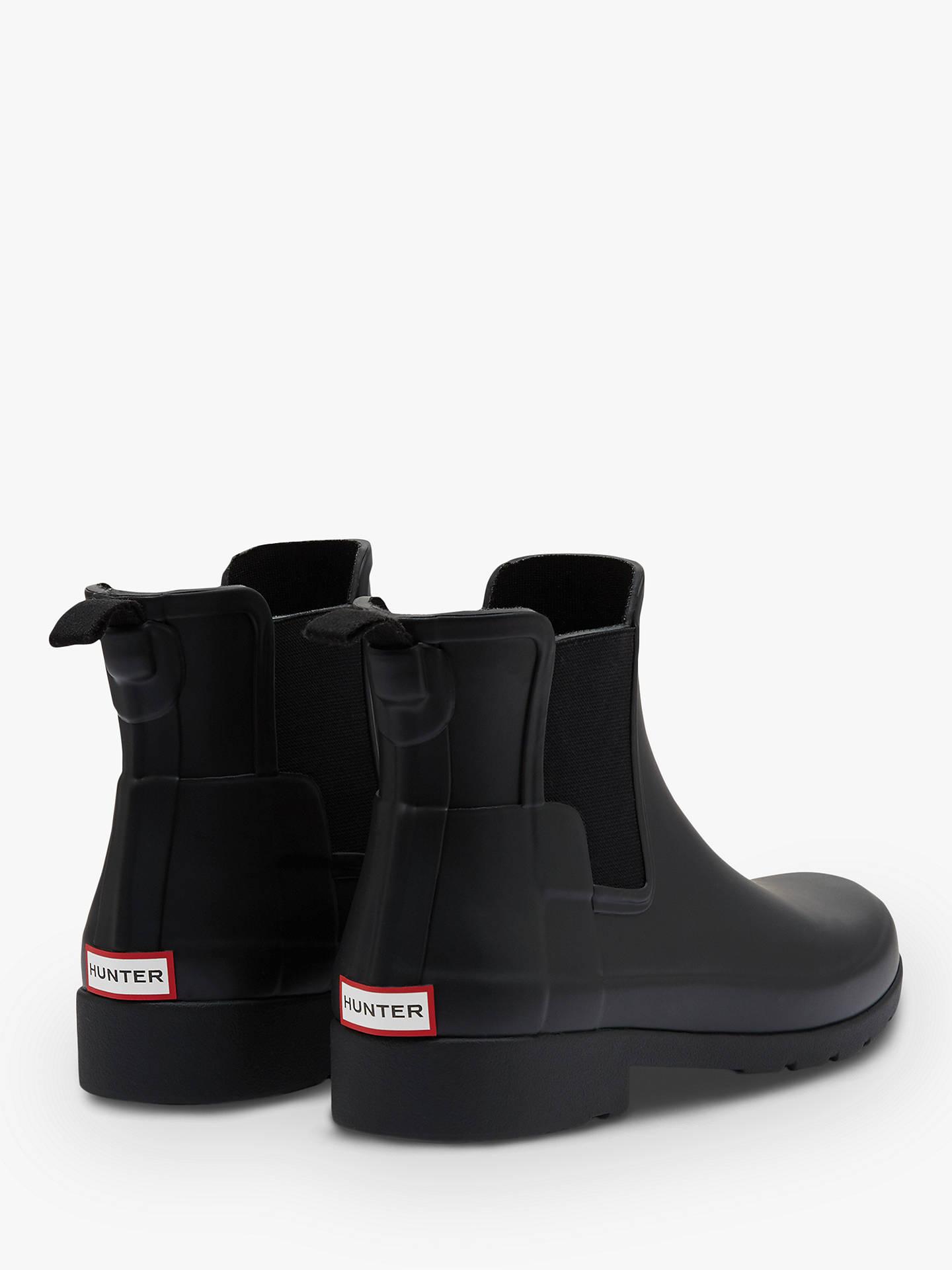 Hunter Women's Original Waterproof Refined Chelsea Wellington Boots, Black