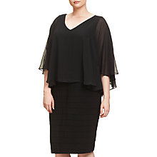 Buy Adrianna Papell Plus Size Banded Chiffon Dress, Black Online at johnlewis.com