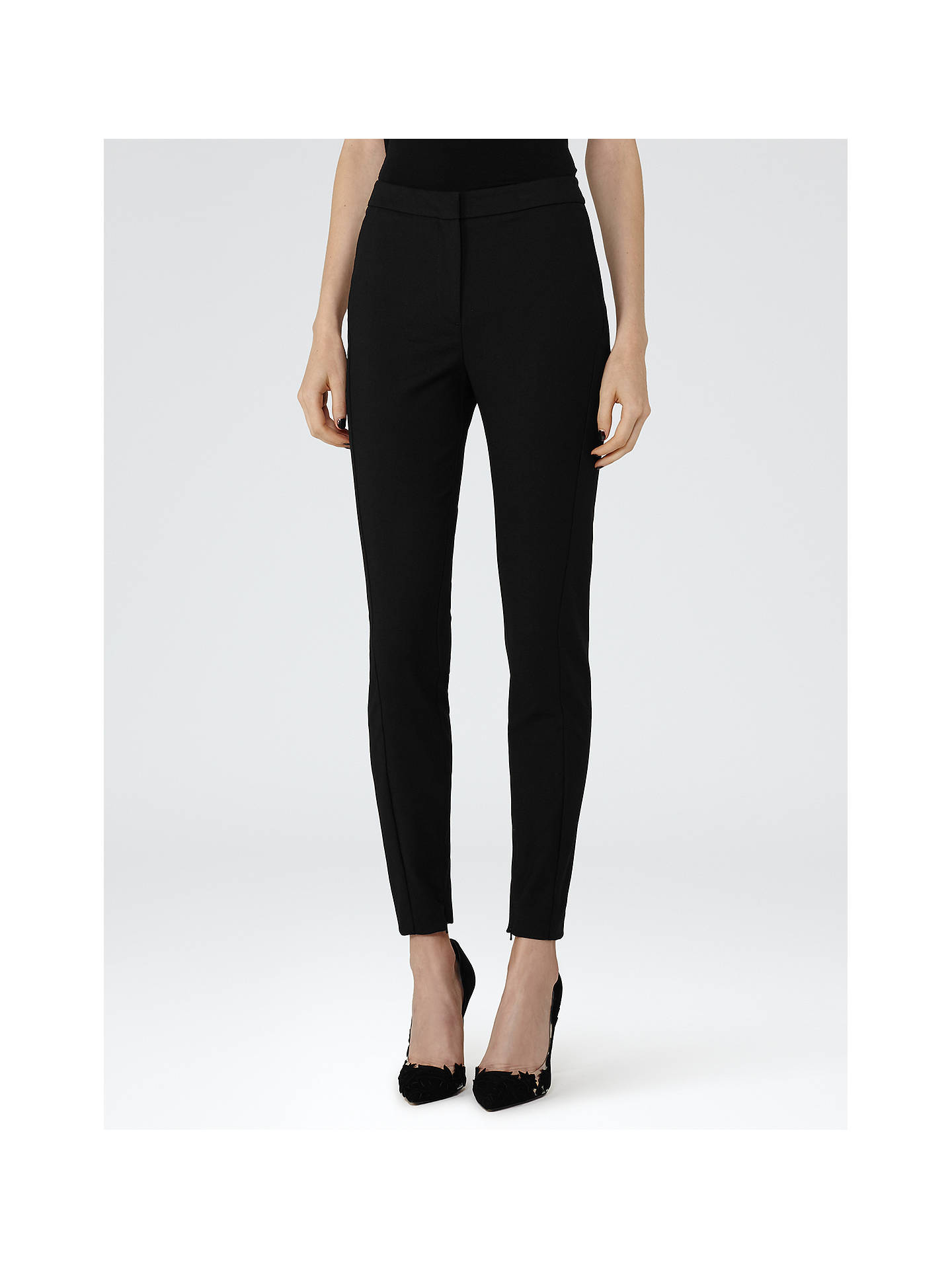 BuyReiss Darlas Skinny Trousers, Black, 6 Online at johnlewis.com