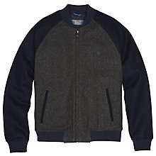 Buy Original Penguin Vintage Wool Blend Varsity Jacket, Dark Shadow Online at johnlewis.com