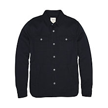 Buy Original Penguin Textured Long Sleeve Shirt Jacket, Dark Sapphire Online at johnlewis.com