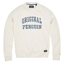 Buy Original Penguin Printed Sweater, Mirage Grey Online at johnlewis.com