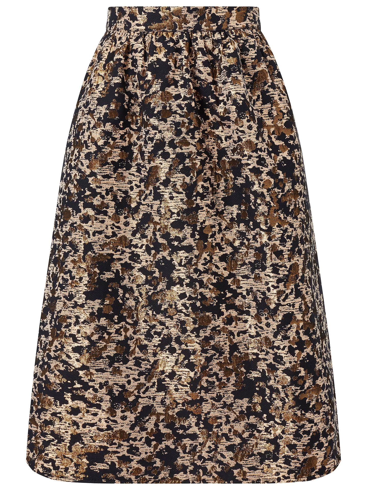 7733e337562734 Buy Miss Selfridge Petite Animal Print Jacquard Midi Skirt, Mid Brown, 6  Online at ...