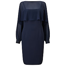 Buy Jacques Vert Cuff Detail Dress, Navy Online at johnlewis.com