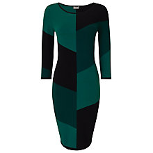 Buy Phase Eight Abriana Block Dress, Green/Black Online at johnlewis.com