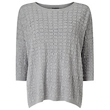 Buy Phase Eight Alegra Texture Jumper, Grey Online at johnlewis.com