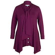 Buy Chesca Pussybow Button Through Tunic, Plum Online at johnlewis.com