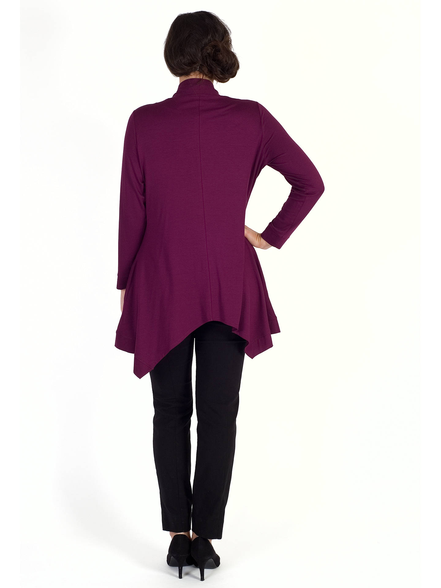 BuyChesca Pussybow Button Through Tunic, Plum, 12-14 Online at johnlewis.com