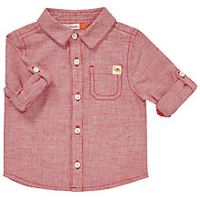 Buy John Lewis Baby Roll-Up Shirt, Red Online at johnlewis.com