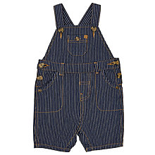 Buy John Lewis Baby Striped Bibshorts, Blue Online at johnlewis.com