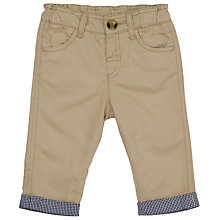 Buy John Lewis Baby Twill Trousers, Stone Online at johnlewis.com