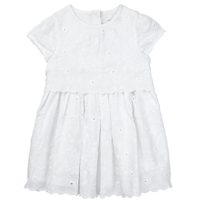Product photo of John lewis baby broderie dress white