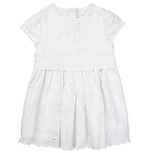 Buy John Lewis Baby Broderie Dress, White Online at johnlewis.com
