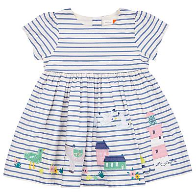 Product photo of John lewis baby striped border dress blue