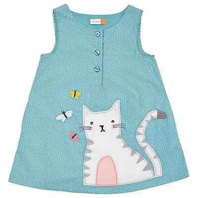 Product photo of John lewis baby cat pinafore dress blue