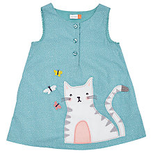 Buy John Lewis Baby Cat Pinafore Dress, Blue Online at johnlewis.com