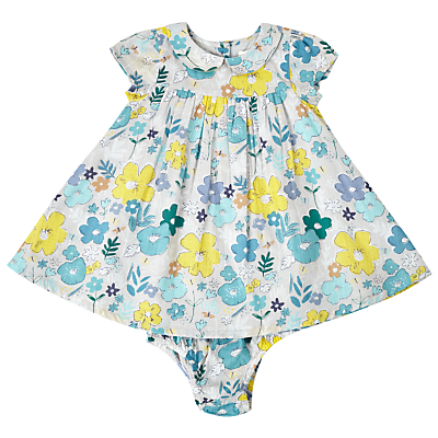 Product photo of John lewis baby floral woven dress multi